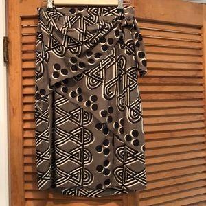 Anthropologie wrap skirt 4